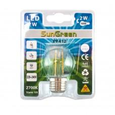 LED Filament klot E27 2W (16W)