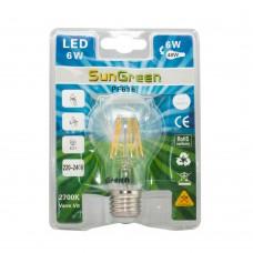 LED Filament E27 6W (45W)
