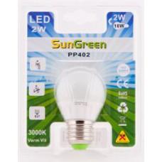 LED Klotlampa E27 2W (16W)