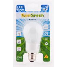 LED Globlampa E27 1,7W (15W)